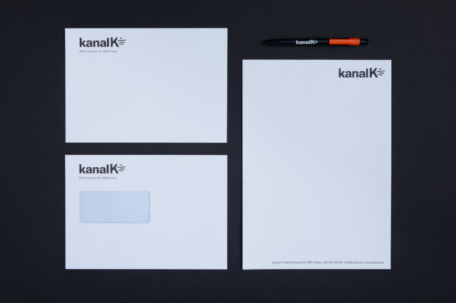 kanal k alternativradion corporate design klassische briefschaften